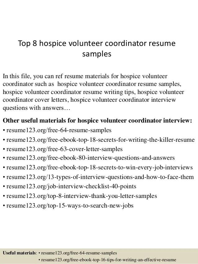 hospice resume - Josemulinohouse