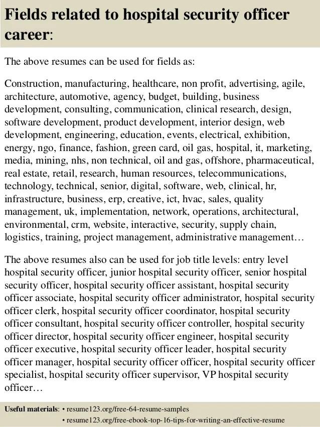 security officer resume samples - Pinarkubkireklamowe