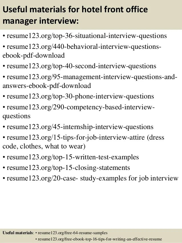 sample hotel front office manager - Josemulinohouse - sample resume for office manager