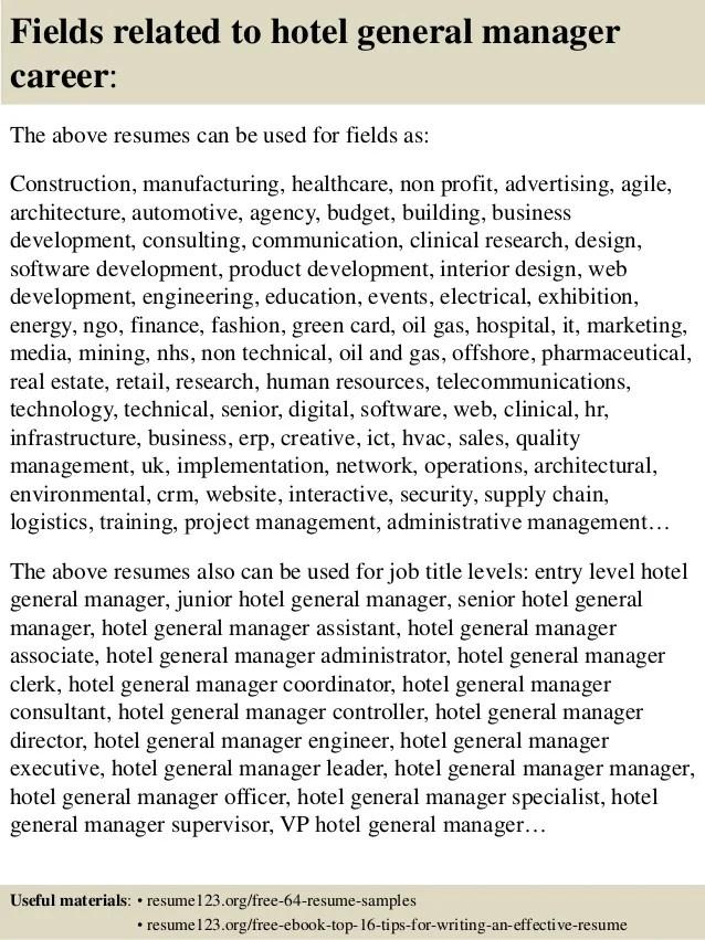 general manager sample resumes - Canreklonec