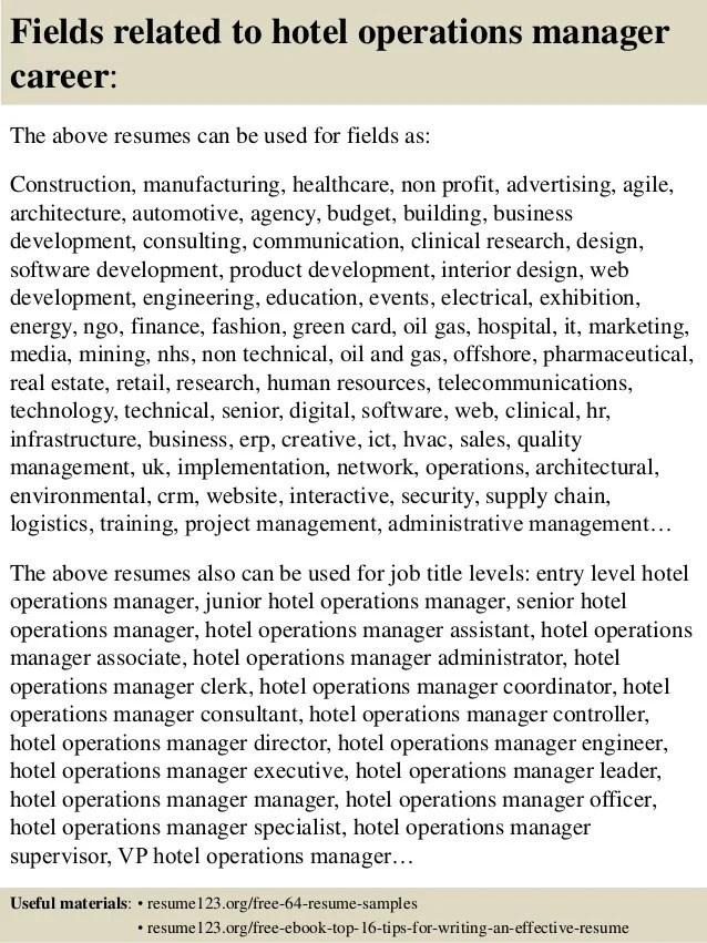 Sample Resume In Sales Clerk Sample Of A Medical Records Clerk Resume Objective Top 8 Hotel Operations Manager Resume Samples