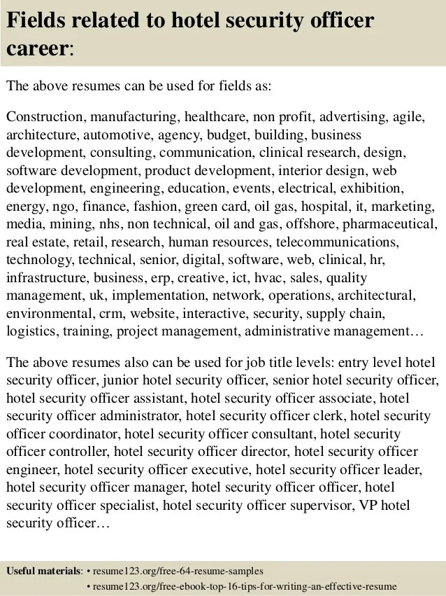hotel security resume - Goalgoodwinmetals - casino security officer sample resume