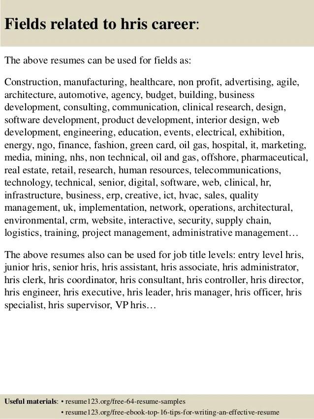 hris resumes - Doritmercatodos - play specialist sample resume