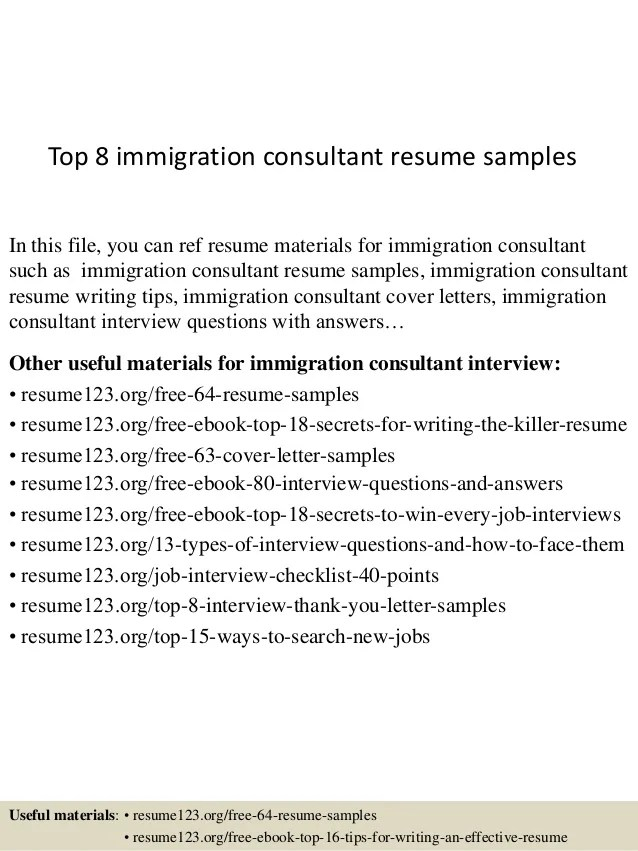 immigration consultant resume - Konipolycode