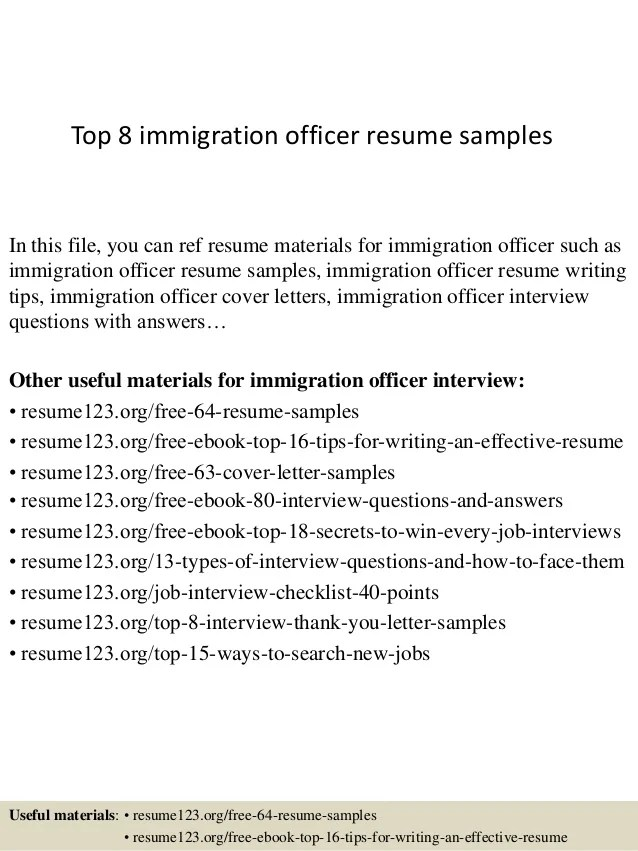 Desktop Support Samples Cover Letters Livecareer Top 8 Immigration Officer Resume Samples
