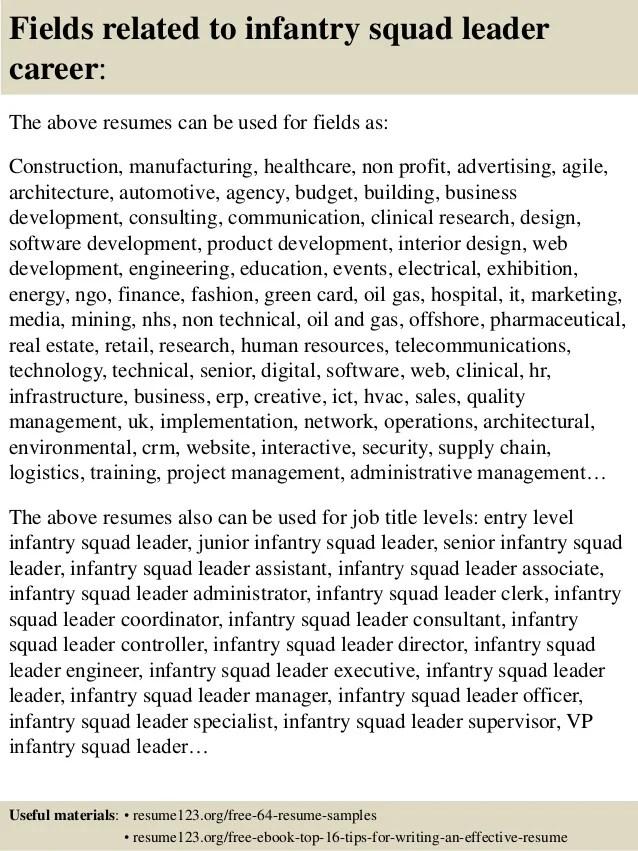 infantry resumes - Ozilalmanoof - infantryman resume