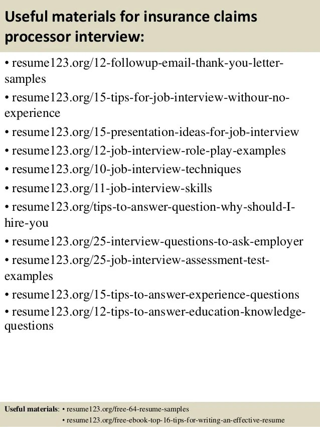 medical claims processor resume - Intoanysearch