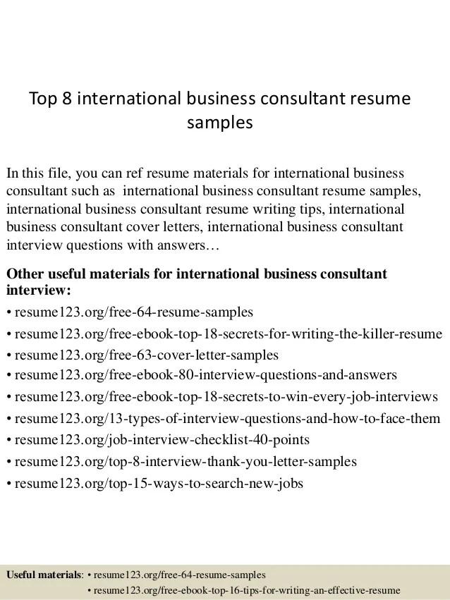 it business consultant sample resume