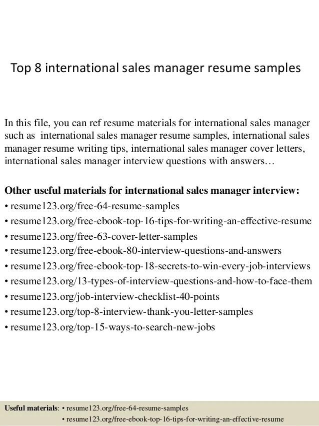 international sales resumes - Ozilalmanoof - international sales representative sample resume