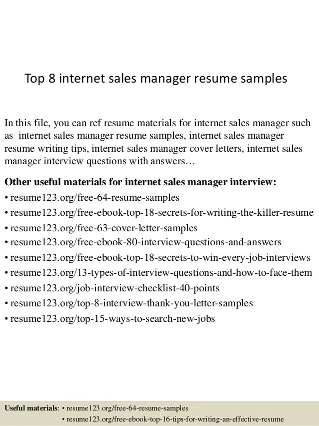 internet sales manager resume - Goalgoodwinmetals