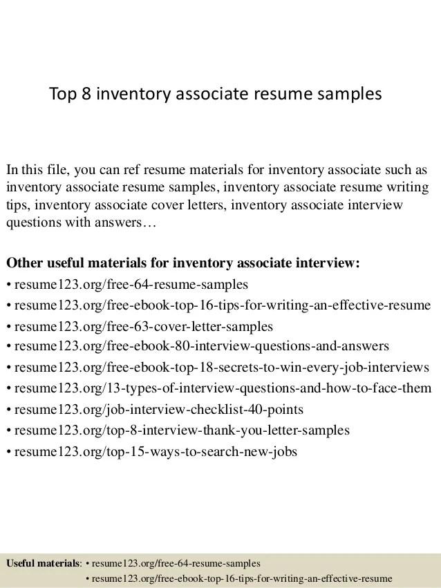 inventory associate resumes - Ukransoochi - inventory management associates resume