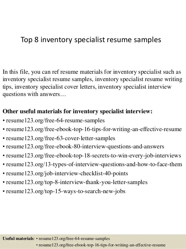 inventory specialist cover letter - Josemulinohouse