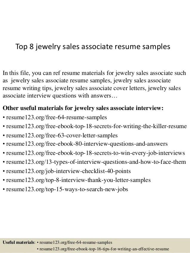 sample resume for jewelry sales associate - Ozilalmanoof - sample resume for sales associate