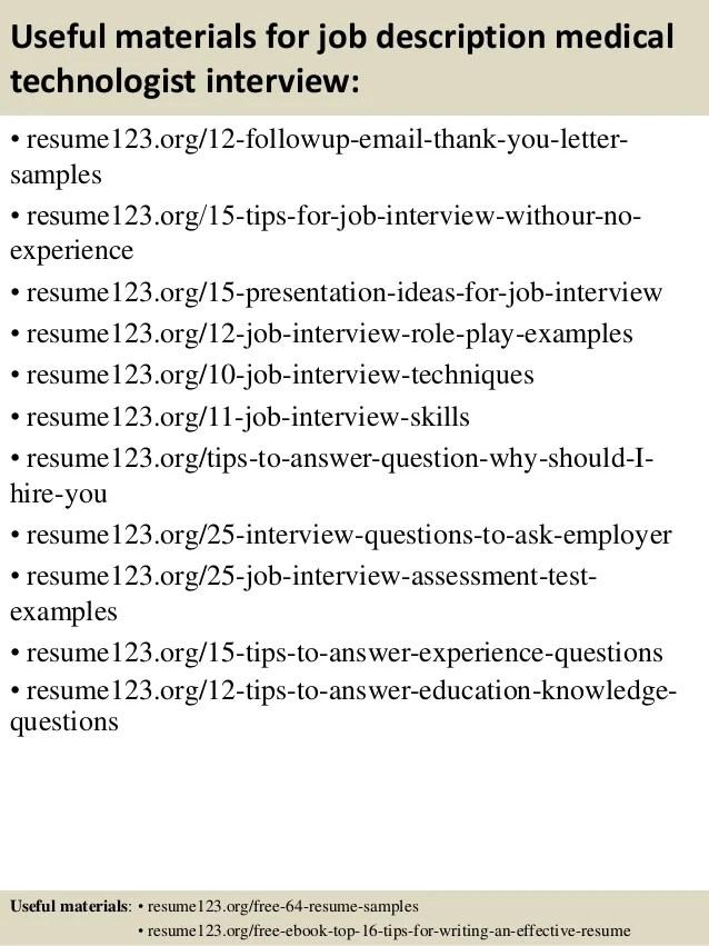 sample resume medical technologist - Baskanidai