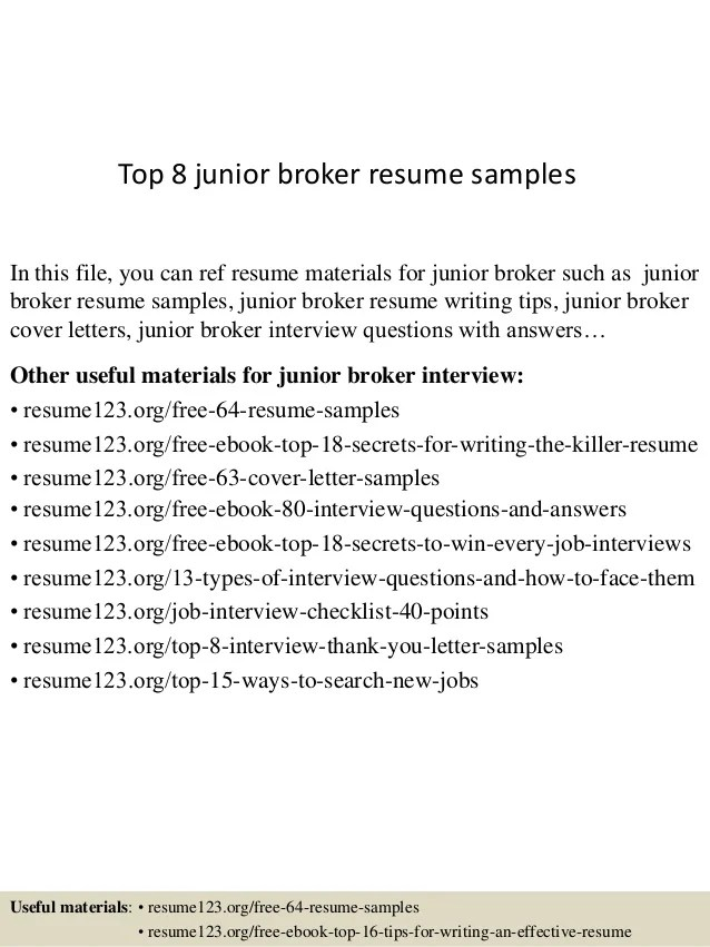 Resume-samples-broker-resumesstock-broker - ghanaphotos - High - futures broker sample resume