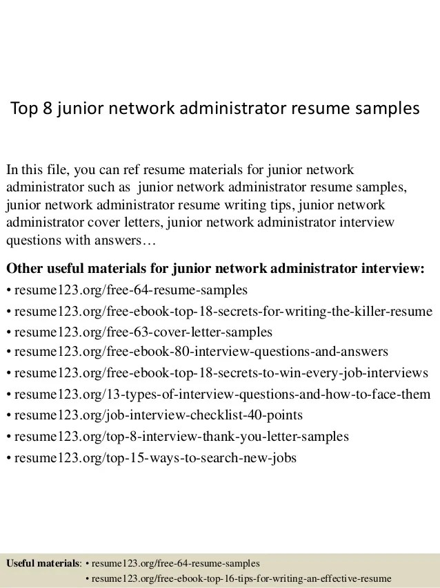 junior network administrator resume - Onwebioinnovate - Lan Administrator Sample Resume