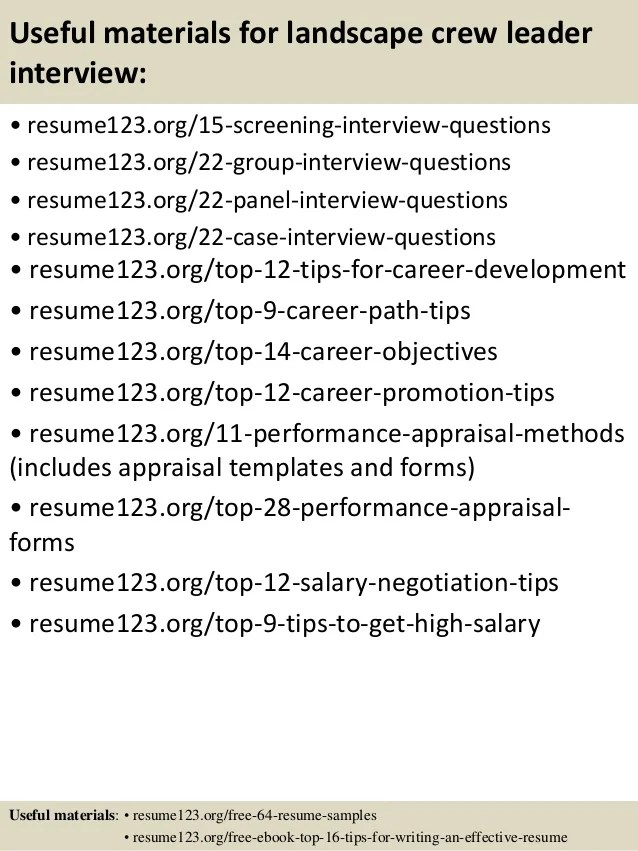 Resume For Landscaping be one landscaping resume samples