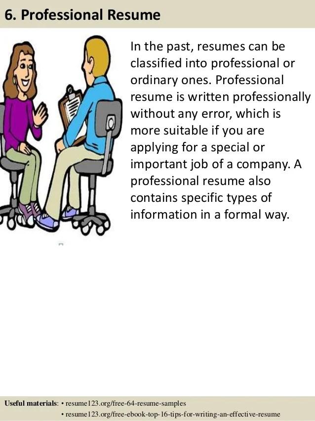 targeted resume outline
