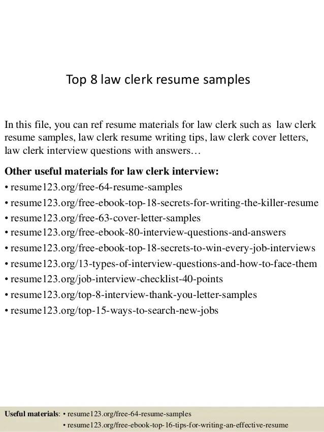 sample law clerk resumes - Maggilocustdesign
