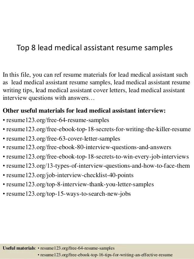 medical assistant resume skills - Josemulinohouse