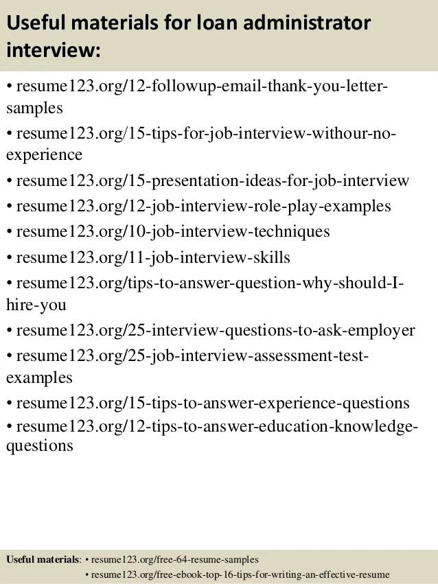 loan administrator resume - Jolivibramusic