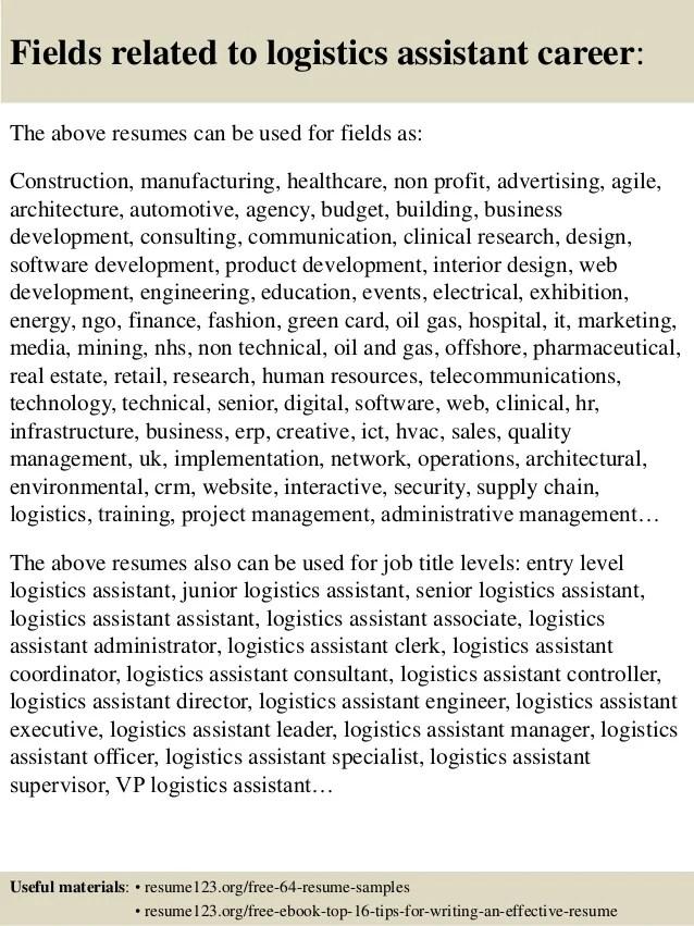 logistics resume sample - Josemulinohouse