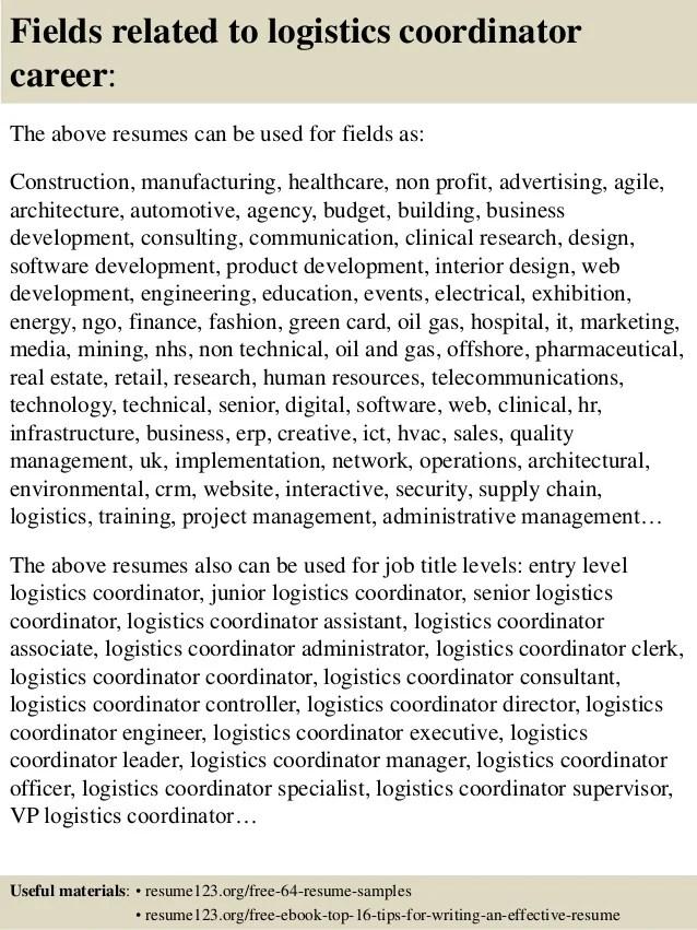 logistics resumes - Minimfagency - logistics resume