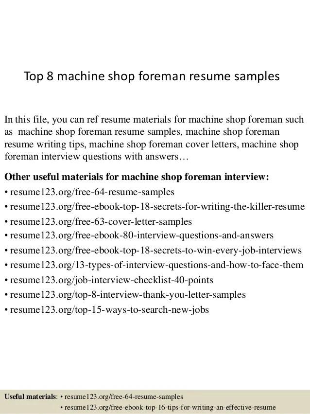 machine shop resume - Boatjeremyeaton - Drill Rig Operator Sample Resume