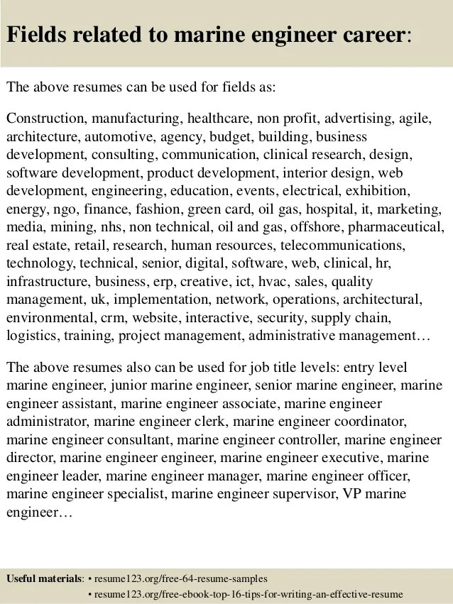 Free Resume Samples Blue Sky Resumes Top 8 Marine Engineer Resume Samples