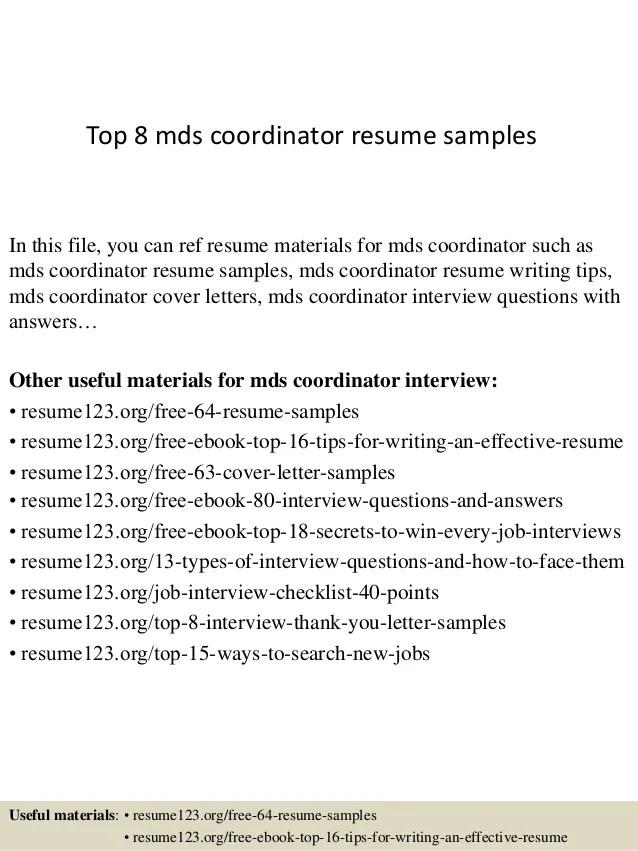 resume profile coordinator