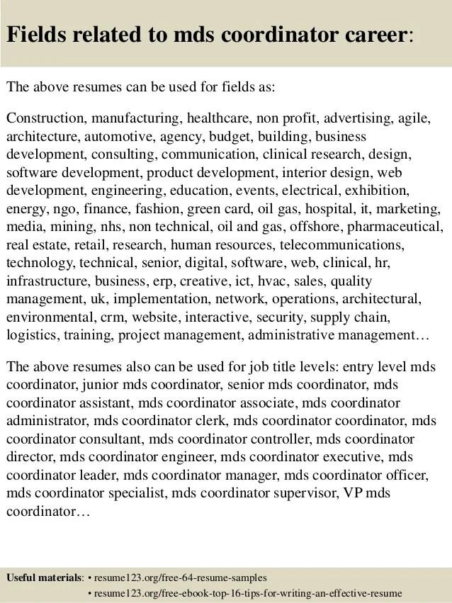 Online Resume Builders The Fastest Resume Builder Top 8 Mds Coordinator Resume Samples