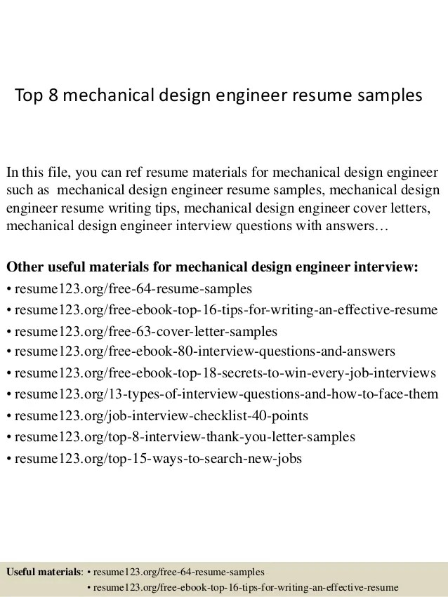 sample resume for mechanical design engineer - Ozilalmanoof