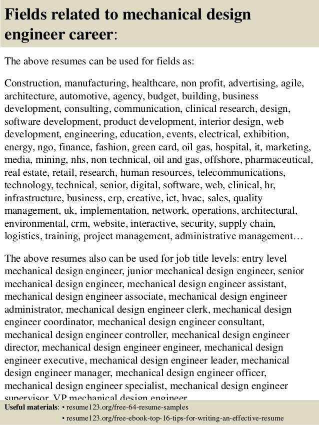 mechanical design resumes