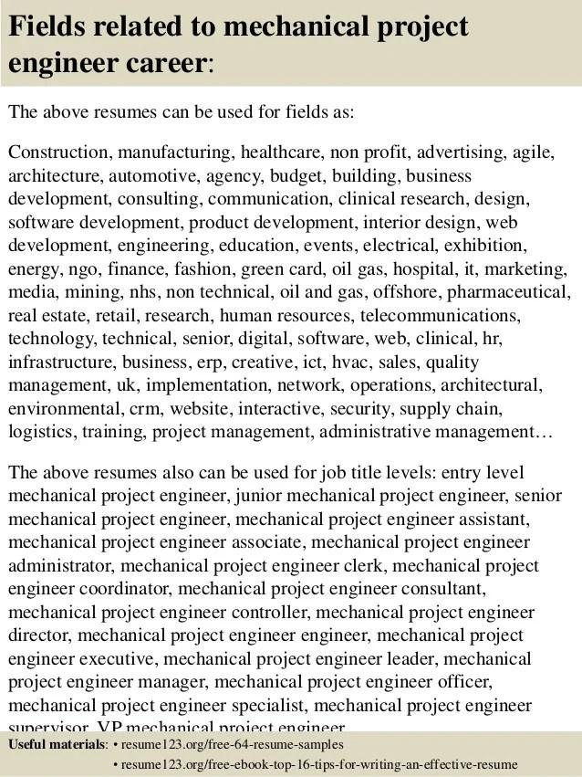 project engineer resume samples radiovkm - engineering resumes samples
