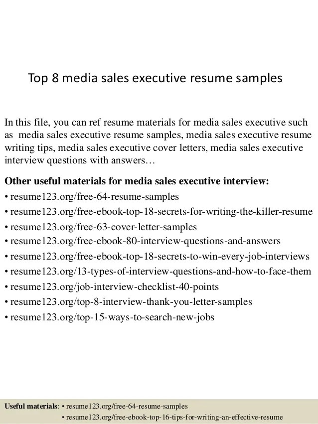 media sales resume - Yokkubkireklamowe