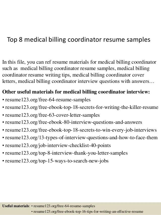 medical billing resume samples