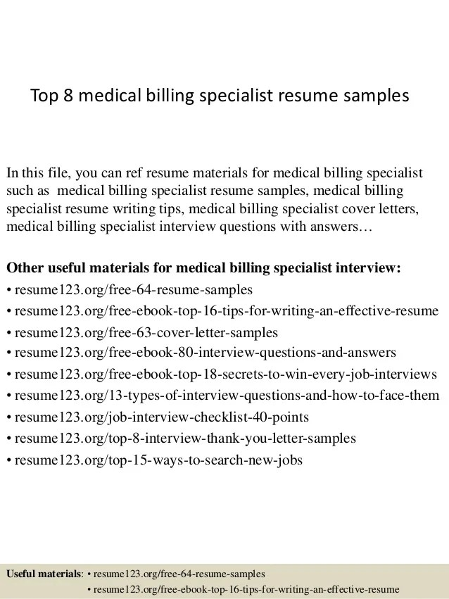 billing specialist resume samples - Onwebioinnovate