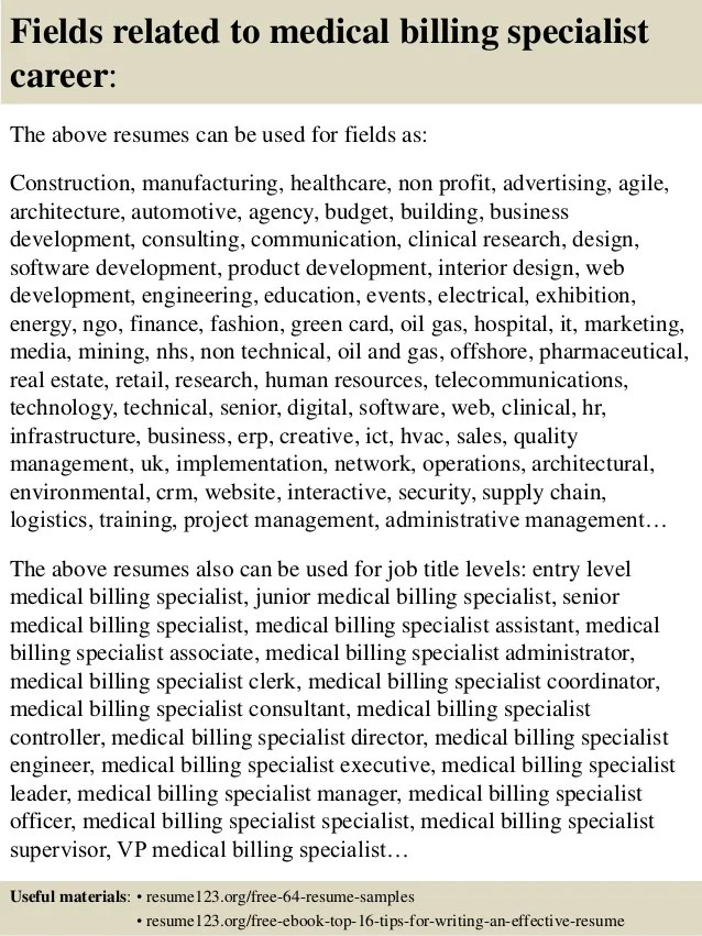 Sheet Metal Mechanic Resume Example Best Sample Resume Top 8 Medical Billing Specialist Resume Samples