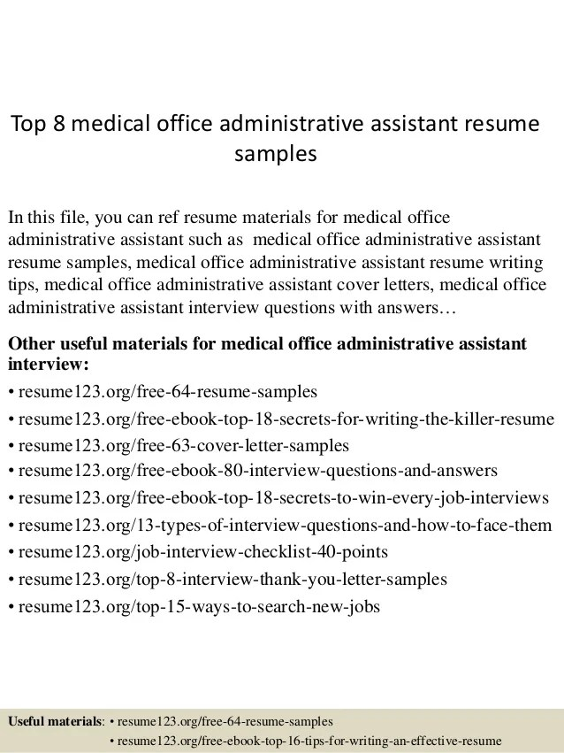 medical administrative assistant resumes