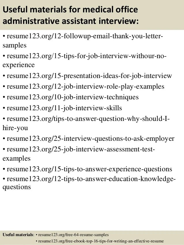 medical office administrative assistant resume - Josemulinohouse - free administrative assistant resume