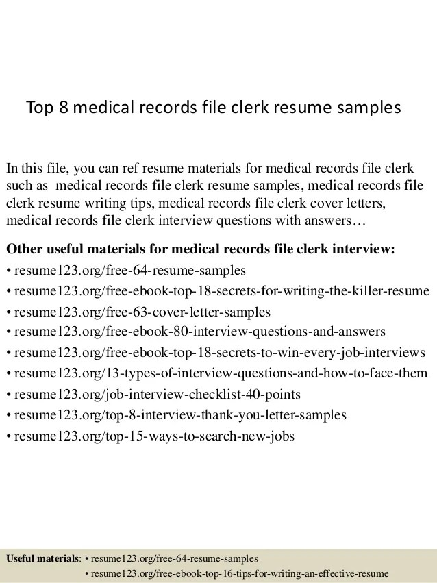 file clerk resumes - Minimfagency - File Clerk Cover Letter
