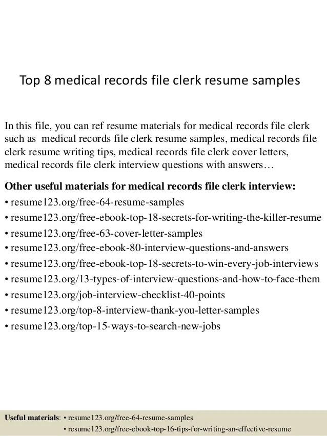 file clerk resumes - Minimfagency