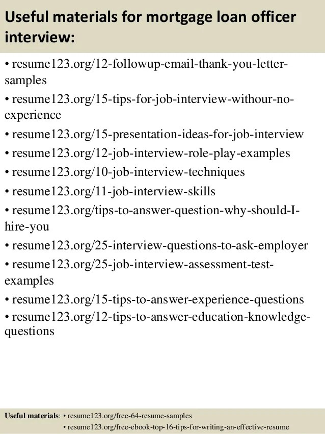 Top 8 mortgage loan officer resume samples