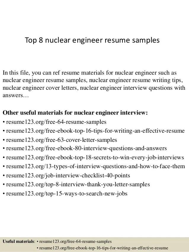 nuclear engineer resumes - Ozilalmanoof