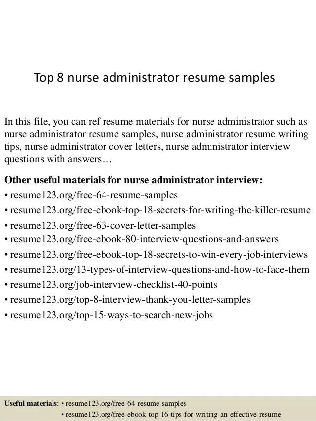 nursing administrator resume - Ozilalmanoof