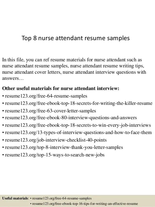 nursing attendant resume - Goalgoodwinmetals - nursing attendant resume