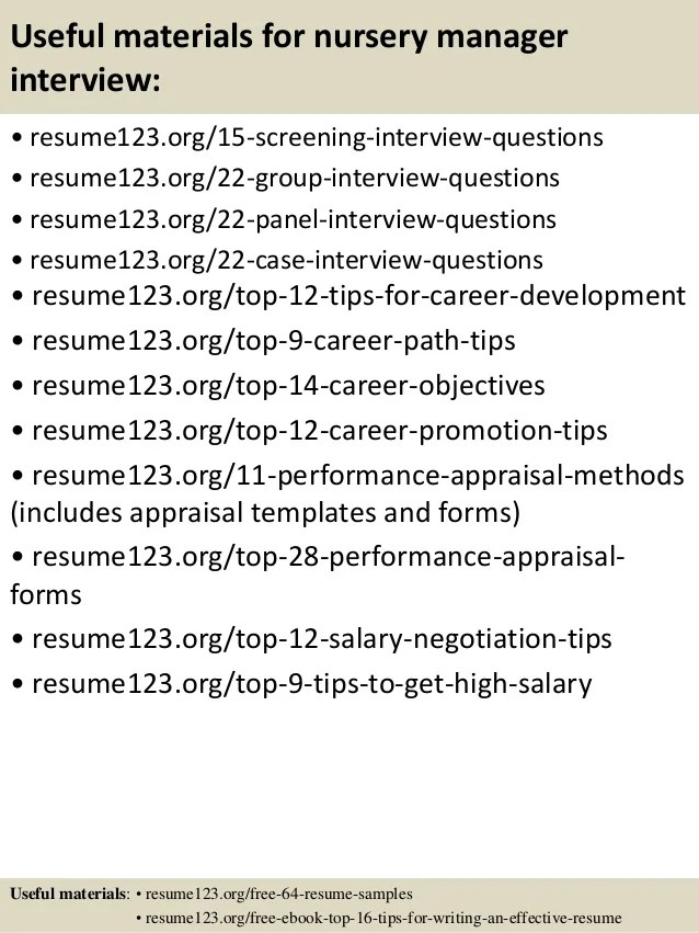 nursery manager resume samples - Funfpandroid - plant nursery worker sample resume