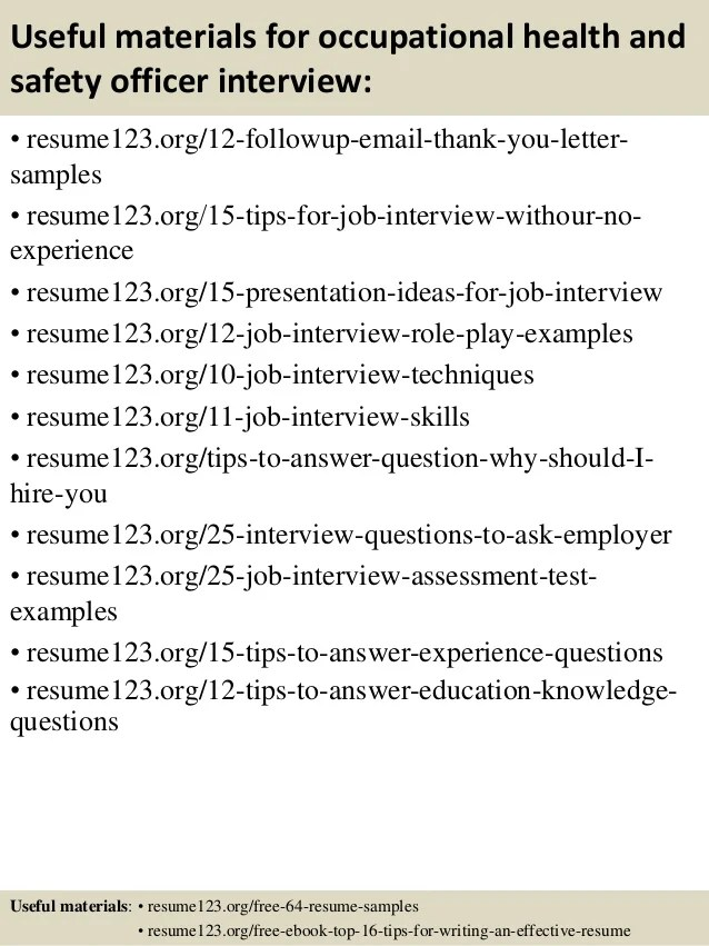 safety officer sample resume examples - Selomdigitalsite