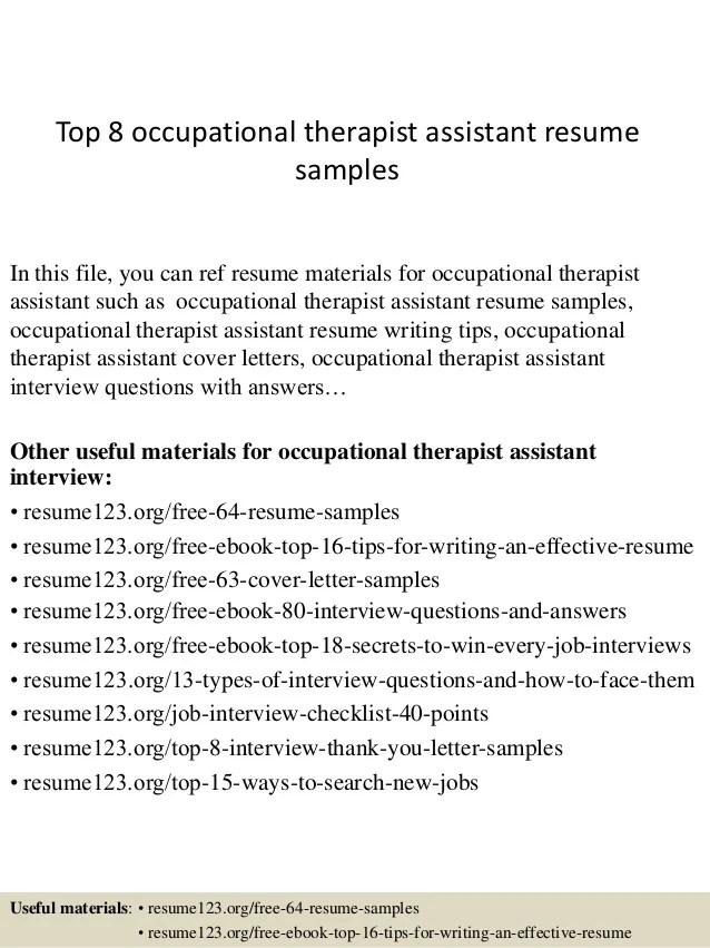 cota resume examples