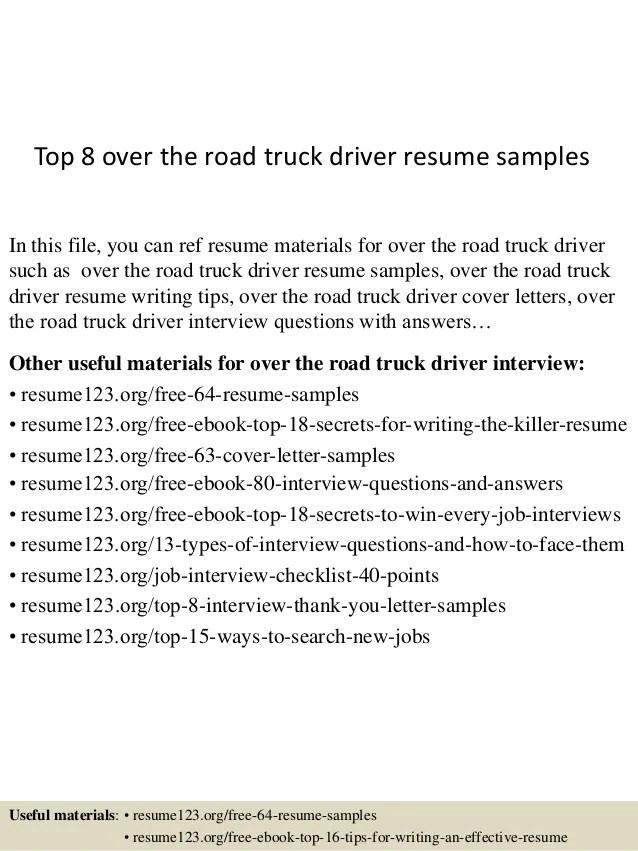 truck driver sample resumes - Baskanidai - driver sample resume